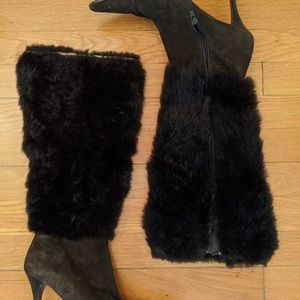 Saks 5th Avenue brown suede boots